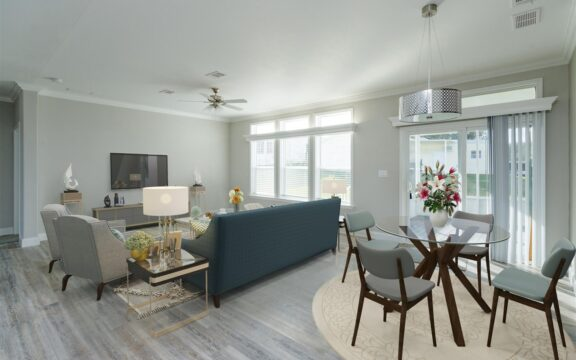 Malibu Model 2 Living Area Virtually Furnished