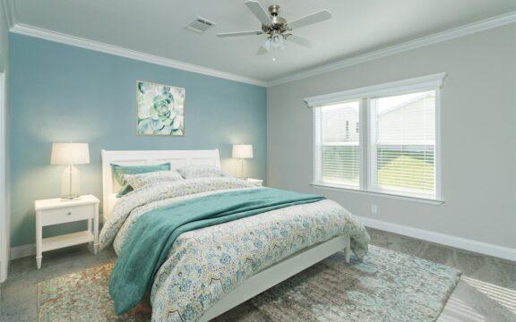 Malibu Model 2 Master Bedroom Virtually Furnished