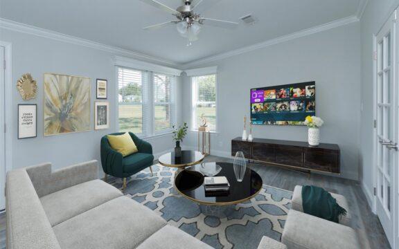 Wellington Model 2 Living Area Virtually Furnished (2)