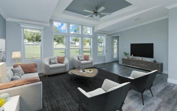 Wellington Model 2 Living Area Virtually Furnished