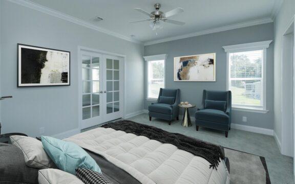 Wellington Model 2 Master Bedroom Virtually Furnished