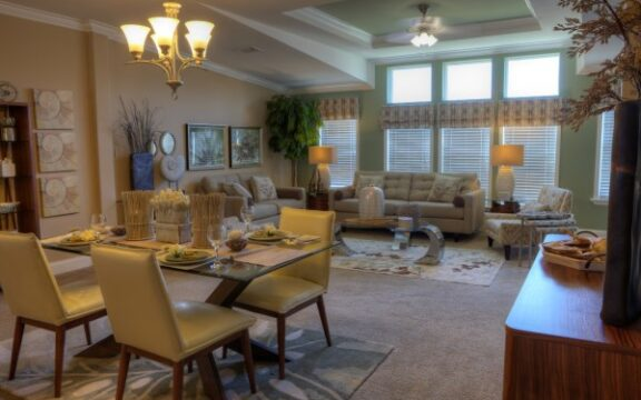The Wellington's spacious open-concept living area is simply breathtaking - with ample room for everyone and everything.