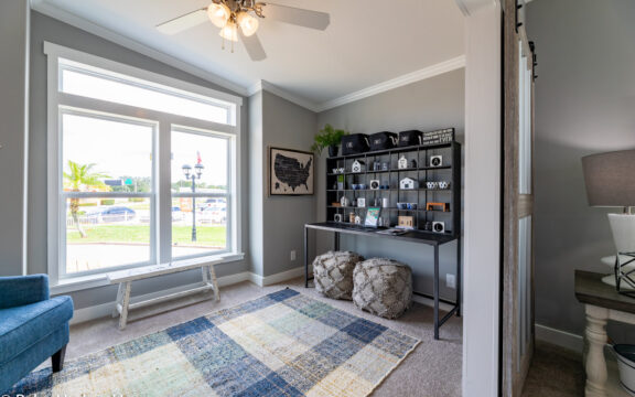 The Den/Studio in The Cottage Farmhouse by Palm Harbor Homes. 2 bedrooms 2 bathrooms. 1,387 square feet with built in porch. Only available in Florida. LS28522J