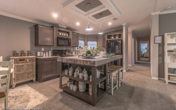 Kitchen with large island - Siesta Key II P2566Q by Palm Harbor Homes