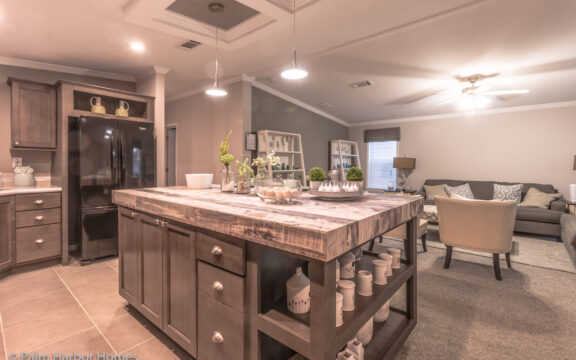 Open kitchen overlooking living area - Siesta Key II P2566Q by Palm Harbor Homes