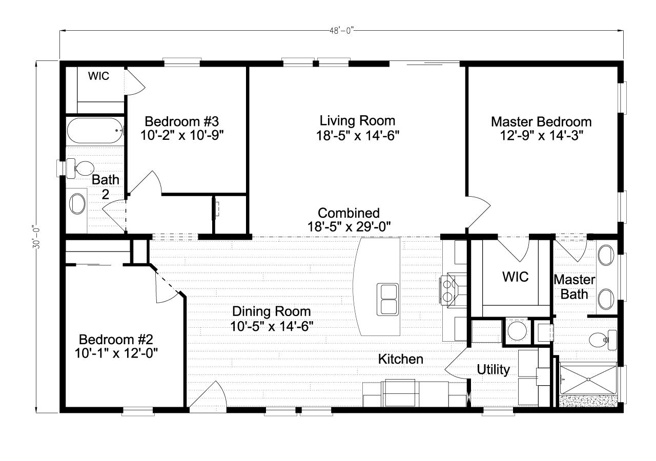 The Ventura VI TL30483C Floor Plan